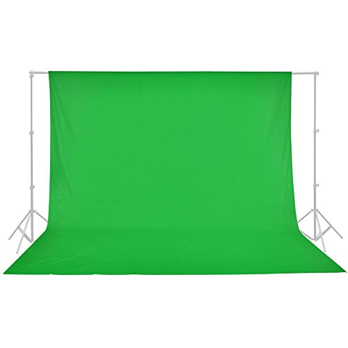 AW 100% Cotton Photo Studio Background 10x10' Green Muslin Photo Backdrop Video Portrait Still Shooting Photography