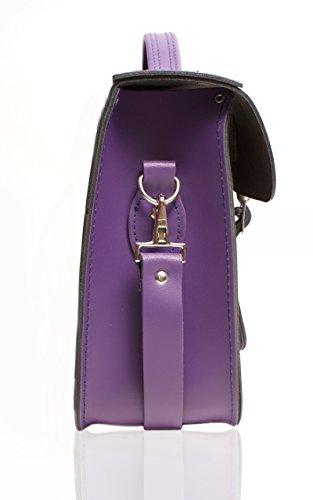 Oxbridge Satchel's - Bolso estilo cartera para mujer Deep Purple