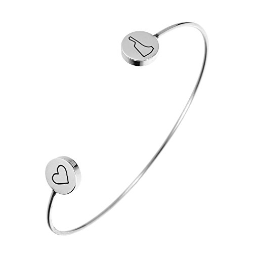 State Bangle Bracelet New Hampshire NH - Open Wire Cuff Stainless Steel ()