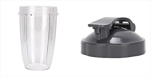 Sduck Replacement Parts for Nutribullet, 24oz Cup & Flip Top Lid For Magic bullet Nutribullet 600w & 900w by Sduck