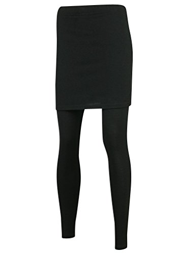 Ililily Slim H Line Skirt Active Leggings Plus-Size Elastic Long Skinny Pants (leggings-158-2-XL)