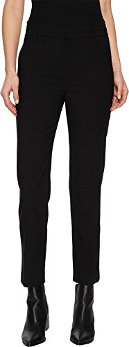 Vince Women's Tapered Trouser, Black, 4 Wool Zip Fly Trousers