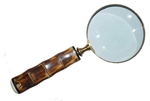 DECONOOR,Magnifying Glass for Reading, Handcrafted Bone Handle Magnifier with 10X Capacity