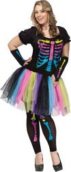 [Women's Costume: Funky Punk Bones-Small/Medium PROD-ID : 1424273] (Funky Punk Bones Adult Costumes)