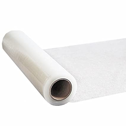 Phoenix Supplies 25m roll Clear Polythene self Adhesive Carpet Protector Film, Free Express Delivery