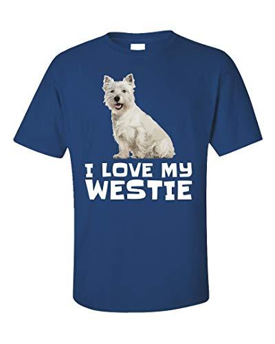 (West Highland Terrier Dog Cute Design I Love My Westie - Unisex T-Shirt Royal Blue)