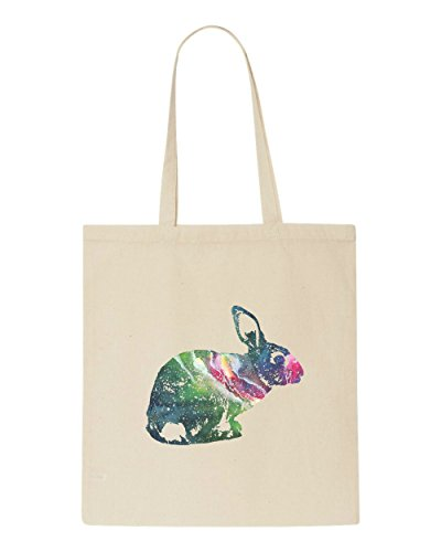 Space Tote Nebula Bag Rabbit Beige Shopper Silhouette Animal Bunny Cosmic 17qw7