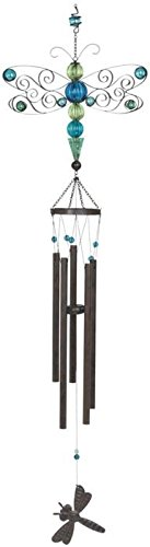 GSC StealStreet SS-G-98749 Metal Dragonfly Wind Chime wit...
