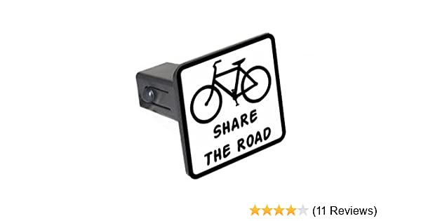 Share the Road Euro Oval Tow Trailer Hitch Cover Plug Insert 1 1//4 inch 1.25 Bicycle