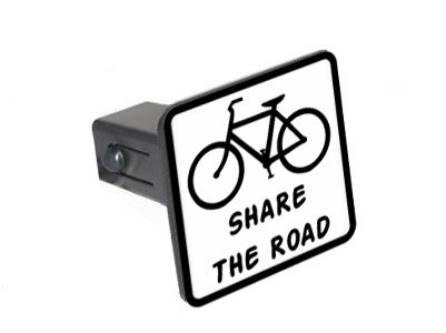 Share The Road Tow Trailer Hitch Cover Plug Insert 2 Bicycle