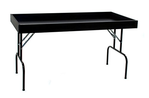 Retail Display Dump Folding Table 30''W x 60''L Ship Knockdown Black Lot of 2 NEW by Unknown