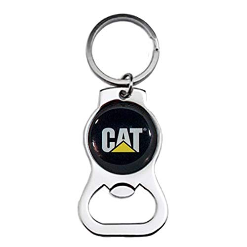 BD Caterpillar CAT Equipment Bottle Beverage Opener Key Tag Novelty Keychain