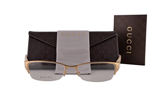 Gucci GG4254 Eyeglasses 53-17-135 Matte Gold Cream 4TX GG - Gucci Aviator Matte Black Sunglasses