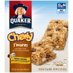 Quaker Chewy S'Mores Granola Bars 6.72 OZ (Pack of 24) by Quaker