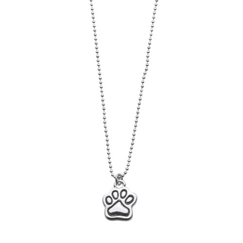Paw Charm on Mini Ball Necklac