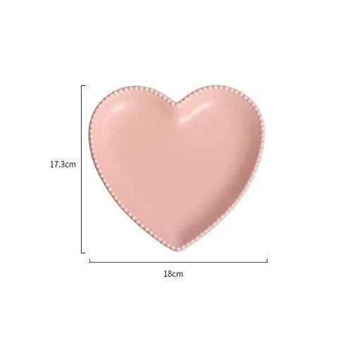 Funnmart LOVE Cermeic Heart Shaped Serving Plate, Fruit
