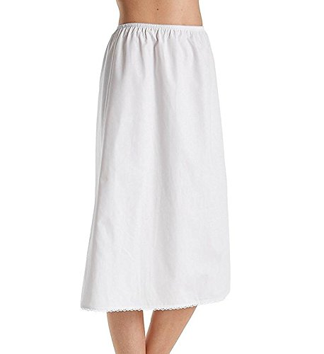 Ladies Slips Cotton - Velrose 100% Cotton Half Slip, White, Large