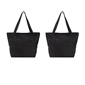 Augbunny Heavy Duty 100% Cotton Shoulder Tote Bag