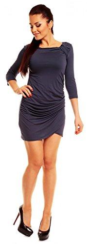 tunique 995z courte 4XL jersey 4 top Ville Bleu 3 manches Zeta Gris Robe Femme S 7wx8tqf1A