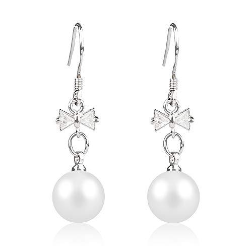 Beaded Earrings Hoop Crystal Ball Drop Earrings for Women (E-B148)