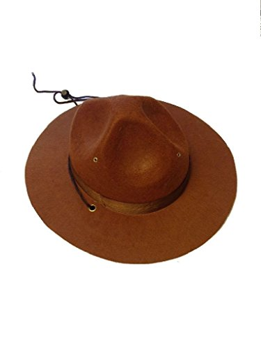 Ponce Trooper Mountie Hat Park Ranger Sheriff Police Costume Mounty Brown (Mounty Police)