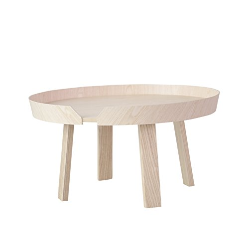 D&L Waterproof Solid Wood Side Table, Northern Europe Round Sofa Table Bedroom Night Table Creativity Coffee Table Modern Simple Storage Rack-Log 72x37.5cm