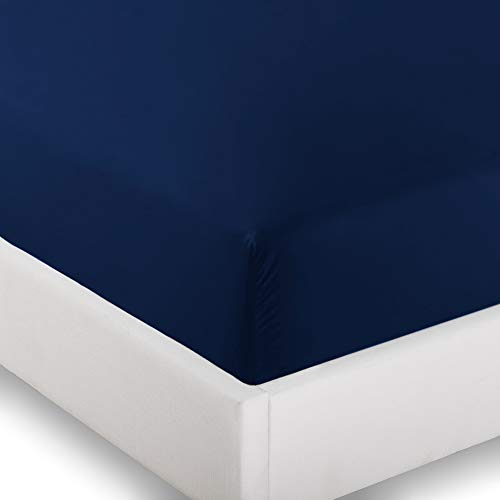 2 Twin XL Fitted Bed Sheets (2-Pack) - Twin Extra Long, 15'' Deep Pocket, 39'' x 80'', (Twin XL, Dark Blue) by Ivy Union
