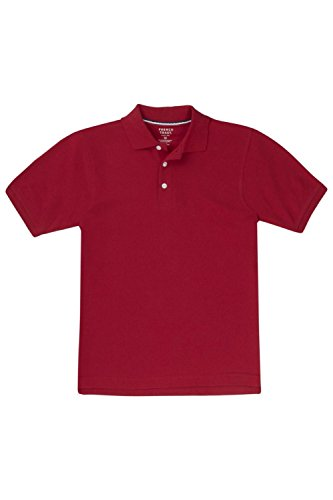 French Toast Little Boys' Short Sleeve Pique Polo, Red, 3T
