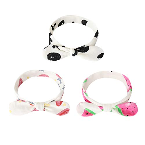 Price comparison product image NUWFOR 3 Pcs Newborn Toddler Kid Baby Knot Turban Headband Headwear Accessories A