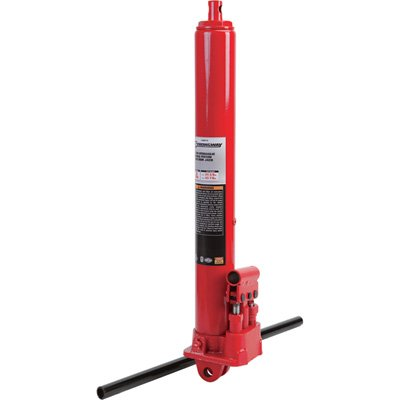 Strongway Hydraulic Long Ram Jack - 3-Ton Capacity, Double Pump, Clevis Base NT30308