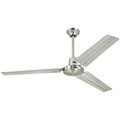 Westinghouse 7812700 Industrial 56-Inch Three-Blade Indoor Ceiling Fan, White with White Steel Blades