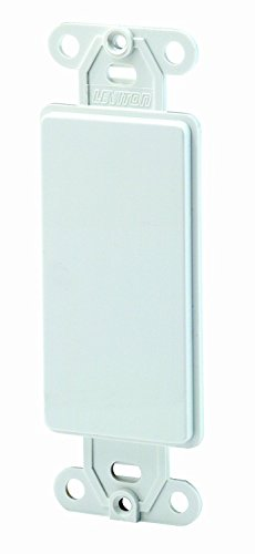 Leviton 80414-W Decora QuickPort Multimedia Blank Insert, 1 Gang, Smooth, 1-Pack, - Decora Insert Leviton Blank