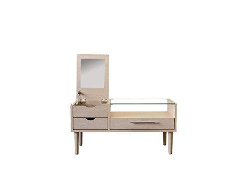 センターテーブル ドレッサー 80cm幅 ナチュラル UTH-03NA B079FGHD6X Parent