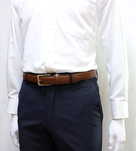 "[SADO BELT] [期間 姫路レザー 本革 ビジネスベルト ガラスマット"" 日本製 ブラウン メンズ サイズ調整可 IK-6002"