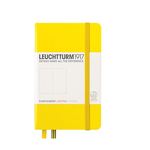 Leuchtturm1917 A6 Pocket Dotted Notebook- Lemon, 185 numbered pages
