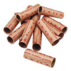 – Preformed Tubular Coin Wrappers, Quarters, $10, 1000 Wrappers/Carton