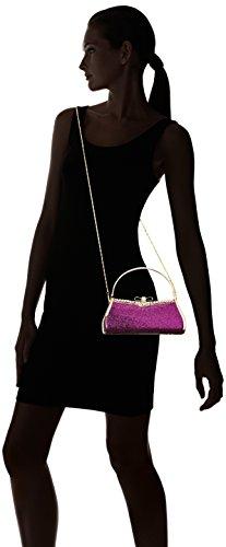 Damara Para Mujer Brillante Lentejuelas lazo Snap Tote bolsa de noche morado