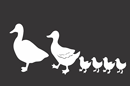 Duck Family- Die Cut Vinyl Window Decal/sticker for Car , Truck, Laptop 3.5