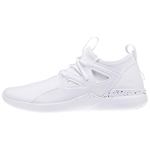 Reebok Cardio Motion, Chaussures de Fitness Femme, Blanc (White/Black/Matte Silver 000), 35.5 EU