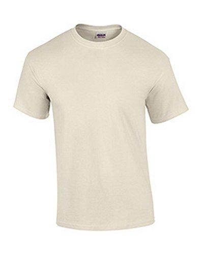 Gildan Mens Ultra Cotton 100% Cotton T-Shirt, 5XL, Natural