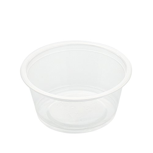 AmerCare Poly Translucent Portion Cup, 2 oz, Case of 2500 by Amercare