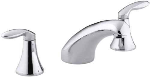 KOHLER K-T15294-4-CP Coralais Rim-Mount Bath Faucet Trim, Polished Chrome - Bathroom Faucet Coralais Chrome