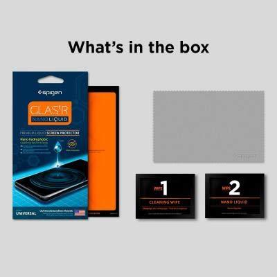 new arrival 899c8 fc35c Spigen Glas.tr Nano Liquid Universal Screen Protection - Clear