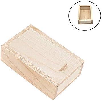 Caja de regalo de madera con tapa deslizante JBOS, caja de madera con tapa deslizante discreta,