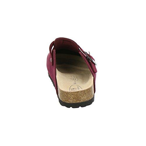 Bequeme echt Damen AFS Leder 2900 Schuhe Beere Clogs Hausschuhe wYq1OvIH