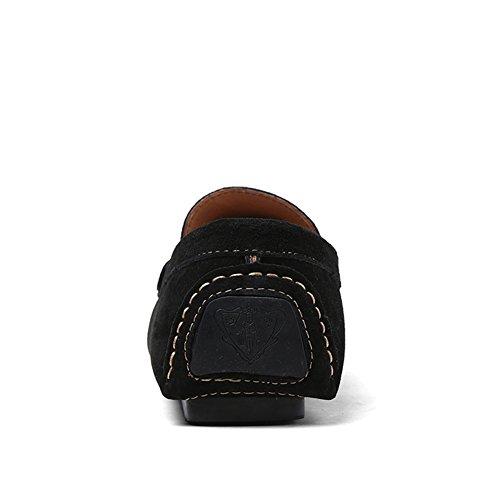 Tentoes Heren Casual Moccasin Loafer Schoenen Zwart