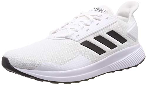 (adidas Men Shoes Duramo 9 Core Training Fitness Trainers Road Running New (EU 43 1/3 - UK 9 - US 9.5) White)