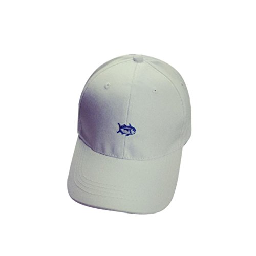 [Iuhan® New Embroidery Cotton Baseball Cap Boys Girls Snapback Hip Hop Flat Hat (White)] (1920s Beach Costume)