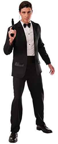 [Forum Novelties Men's Secret Agent Deluxe Costume Tuxedo, Multi, One Size] (M James Bond Costume)