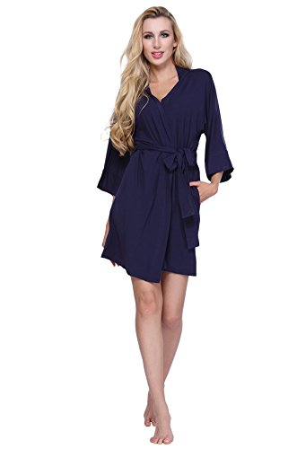 WitBuy Modal Cotton Kimono Pockets